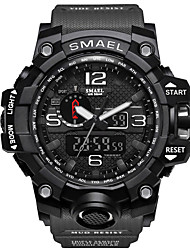 cheap -Men's Sport Watch Military Watch Analog - Digital Digital Casual Calendar / date / day Luminous Stopwatch / Two Years / Silicone / Japanese / Noctilucent / Large Dial