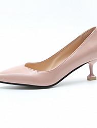 cheap -Women's Heels Stiletto Heel Pointed Toe PU Winter Black / Light Brown / Pink