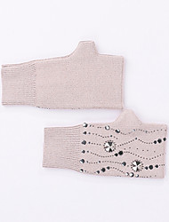 cheap -Paillette / Polyamide fabric Wrist Length Glove Gloves / Simple Style With Crystals / Rhinestones / Paillette