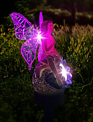 cheap -Solar Wisteria Flower Fairy Romantic Garden Light Outdoor Lighting Lawn Landscape Light LED Colorful Light Colorful Change White Light Waterproof 1set