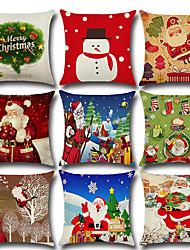 Недорогие -9 шт льняная наволочка, праздник снежинка мультфильм рождественские декоративная подушка