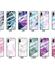 cheap -Case For Apple iPhone 11 / iPhone 11 Pro / iPhone 11 Pro Max Pattern Back Cover Marble Tempered Glass