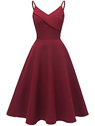cheap -A-Line Straps Knee Length Polyester Bridesmaid Dress with by LAN TING Express