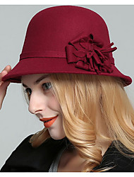 cheap -Women's Basic Polyester Bucket Hat-Solid Colored Black Wine Fuchsia