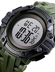 Недорогие -SKMEI Муж. электронные часы Японский Цифровой Спортивные Искусственная кожа Черный / Белый / Синий 30 m Защита от влаги Календарь Секундомер Цифровой На открытом воздухе - Черный Белый Зеленый