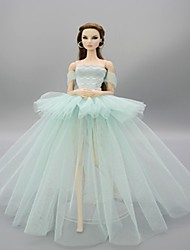 cheap -Wedding Dress Party / Evening Wedding Ball Gown Tulle Lace Plastic For 11.5 Inch Doll Handmade Toy for Girl's Birthday Gifts  Doll Not Included