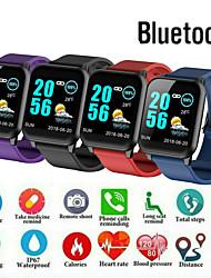 Недорогие -электронные часы Цифровой Современный Спортивные силиконовый 30 m Защита от влаги Пульсомер Bluetooth Цифровой На каждый день На открытом воздухе - Черный Лиловый Синий