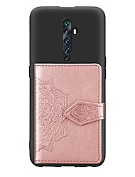 cheap -Case For OPPO OPPO Reno2 Z / Oppo F11 Pro Card Holder / with Stand / Ultra-thin Back Cover Geometric Pattern PU Leather / TPU