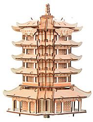 Недорогие -3D пазлы Деревянные пазлы Китайская архитектура моделирование Ручная работа деревянный 230 pcs Детские Взрослые Все Игрушки Подарок