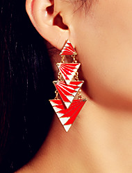 cheap -Women's Earrings Geometrical Precious Hope Stylish Elegant Tropical Fashion French Earrings Jewelry Red For Party Gift Daily Stage Festival 1 Pair