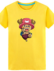 cheap -Inspired by One Piece Tony Tony Chopper Anime Cosplay Costumes Japanese Cosplay T-shirt Print Short Sleeve Top For Men's / Women's