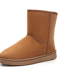 cheap -Men's Comfort Shoes Suede Winter Casual / British Boots Walking Shoes Warm Black / Brown / Camel