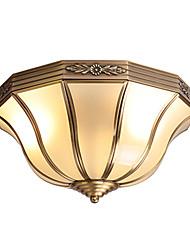 cheap -Novelty Flush Mount Lights Ambient Light Brass Copper 220-240V