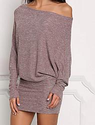 cheap -Women's Bodycon Dress - Solid Colored Wine Purple Gray S M L XL