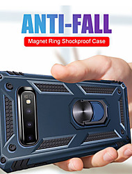 cheap -Case For Samsung Galaxy Galaxy S10 Plus / Galaxy S10 E / Galaxy S10 5G Shockproof / Ring Holder Full Body Cases Armor PC
