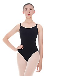 cheap -Ballet Leotards Women's Training Cotton / Spandex Gore Sleeveless Natural Leotard / Onesie