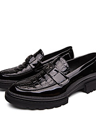 cheap -Men's Summer / Fall Business / Classic Daily Office & Career Loafers & Slip-Ons Faux Leather Non-slipping Wear Proof Black