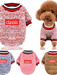 cheap -Dog Cat Sweater Sweatshirt Ordinary Casual / Daily Fashion Winter Dog Clothes Fuchsia Blue Pink Costume Lamb Fur Polyester Mixed Material XS S M L XL XXL