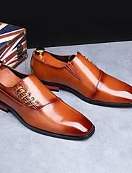 baratos -Homens Sapatos formais Couro Ecológico Outono Mocassins e Slip-Ons Preto / Amarelo / Vinho