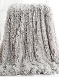 Недорогие -Одеяла, Сплошной цвет Акриловые волокна удобный одеяла