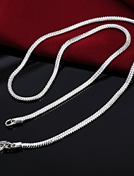 cheap -Men's Chain Necklace Chains Classic Precious Unique Design Fashion Platinum Plated S925 Sterling Silver Silver 51 cm Necklace Jewelry 1pc For Daily Street Work