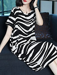 cheap -Women's Elegant Shift Dress - Geometric Black M L XL XXL