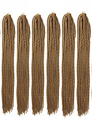 cheap -Crochet Hair Braids Straight Box Braids Natural Color Synthetic Hair 23 inch Braiding Hair 8 pack / There are 24 roots in one piece. Normally 5-10 pieces are enough for a full head.