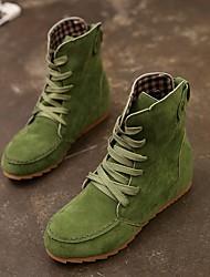cheap -Women's Boots Hidden Heel Round Toe Suede Mid-Calf Boots Fall & Winter Black / Green / Khaki