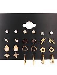 cheap -Women's Ear Piercing Stud Earrings Earrings Classic Mini Earrings Jewelry Gold For Engagement Daily Holiday Club Bar
