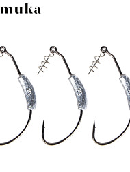 cheap -3pcs/bag Afishlure Crank Hook With Lead,Metal Sequines and Steel Pin 2g Lead 2/0 Hook 4g Lead 4/0 Hook Bait casting
