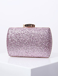 cheap -Women's Bags Polyester Alloy Evening Bag Glitter Sequin Solid Color Handbags Wedding Event / Party Black Red Blushing Pink Gold