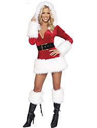 cheap -Mrs.Claus Dress Women's Adults' Costume Party Christmas Christmas Velvet Dress / Belt