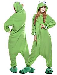 cheap -Adults' Kigurumi Pajamas One-Eyed Monster Animal Onesie Pajamas Polar Fleece Green Cosplay For Men and Women Animal Sleepwear Cartoon Festival / Holiday Costumes / Leotard / Onesie / Leotard / Onesie