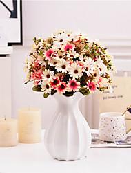 cheap -Artificial Small Daisy Fresh with Grass Chrysanthemum Plastic Fower Garden Wedding Home Christmas Decor