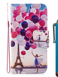 cheap -Case For Apple iPhone 11 / iPhone 11 Pro / iPhone 11 Pro Max Wallet / Card Holder / with Stand Full Body Cases Balloon Tower PU Leather / TPU for iPhone 7 / 7 Plus / 8 / 8 Plus / X / XS / XR / Xs Max