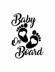 cheap -12.7CM*17.8CM Baby On Board Car Sticker Car Reflective Motorcycle Decals Car Styling Stickers