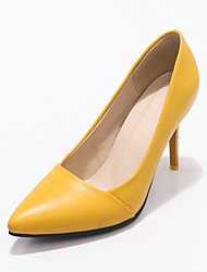 cheap -Women's Heels Stiletto Heel Pointed Toe PU Classic / British Spring &  Fall Black / Yellow / Blue / Party & Evening