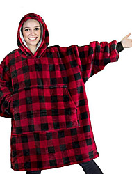 cheap -Multifunctional Blankets, Plaid Polyester Comfy Blankets