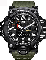 cheap -SMAEL Unisex Sport Watch Quartz Vintage Style Sporty Black / Red / Orange 50 m Military LED Light Casual Watch Analog - Digital Army - Black Black / Silver Black+Gloden Two Years Battery Life
