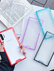cheap -Case For Samsung Galaxy Galaxy S10 / Galaxy S10 Plus / Galaxy A10(2019) Shockproof Back Cover Transparent TPU / Acrylic A20 A70 A50 Note10 Note10pro M10 S9 S9plus