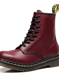 cheap -Men's Comfort Shoes Leather Fall & Winter Boots Booties / Ankle Boots Black / Brown / Red