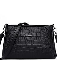 cheap -Women's Rivet Faux Leather / PU Crossbody Bag Crocodile Black / Wine
