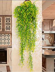 abordables -plante artificielle décoration murale panier suspendu orchidée rotin décoration de la maison