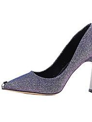 cheap -Women's Heels Stiletto Heel Pointed Toe PU Booties / Ankle Boots Fall & Winter Black / Purple / Gold