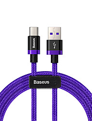 cheap -Baseus Purple Gold Red HW flash charge cable USB For Type-C 40W 1m Gold black/Red/Purple