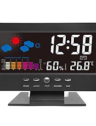 Недорогие -цифровой жк-будильник крытый / открытый термометр гигрометр измеритель температуры