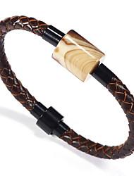 abordables -Bracelet à maillons fait main Femme Géométrique Chanceux Décontracté / Sport Bracelet Bijoux Noir Marron Bleu pour Quotidien