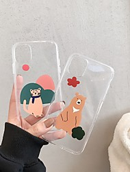 cheap -Case For Apple iPhone 11 / iPhone 11 Pro / iPhone 11 Pro Max Transparent / Pattern Back Cover Cartoon TPU