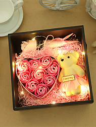 cheap -Valentine's Day Mother's Day gift rose SOAP flower gift box artificial flower birthday gift with LED lights