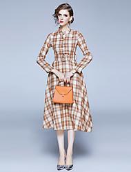 cheap -Women's Daily Wear Festival Vintage Elegant A Line Dress - Geometric Print Yellow S M L XL